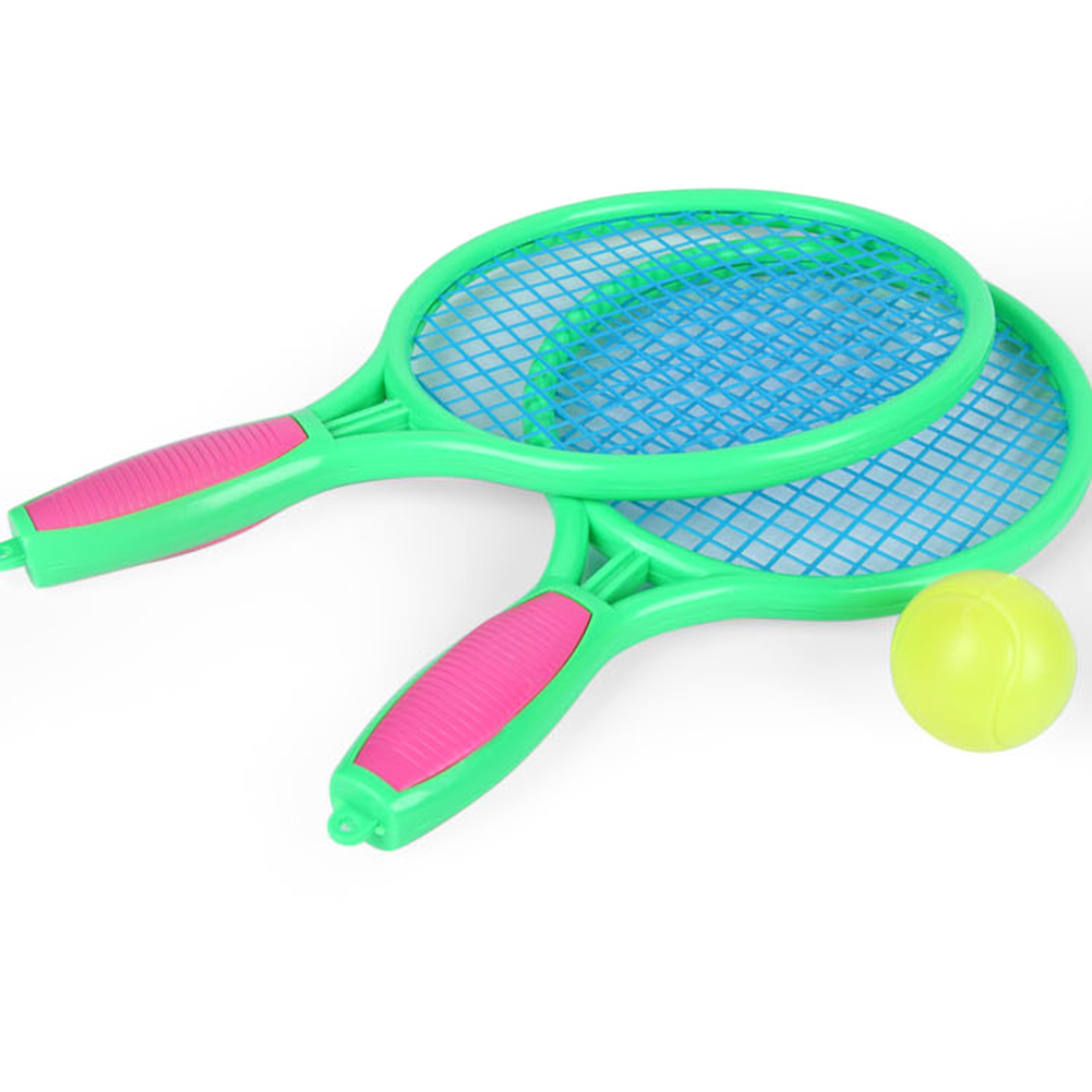 Badminton Set For Kids With 2 Rackets Ball And Birdie Junior Tennis Racquet Play Game Beach Toys Tennis Racket Plastic Toy