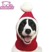 Рождественская шапка для собак, костюм для больших и средних собак, теплая зимняя шапка для собак, теплая шапка для шеи и ушей, Защитная повязка для золотого ретривера