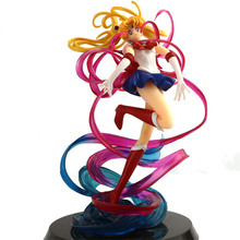 цена на Haocaitoy Figure Toys Sailor Moon  Anime Action Figures Figuarts Zero chouette Toys Sailor Moon For Collecting Gift 20cm