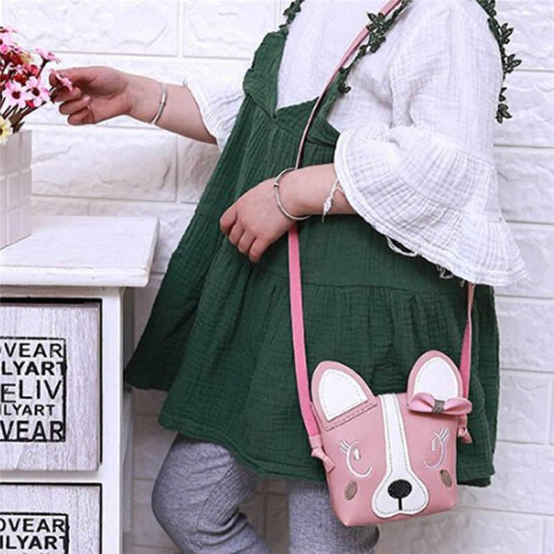 Çocuk karikatür askılı çanta çocuk kız sevimli hayvan baskı çocuk kedi omuzdan askili çanta Mini çanta hediye