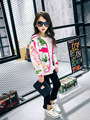 2017 Spring New Arrival Baby Girls Outerwear Jacket Girls Character-print Hooded Coat Kids Fashion Spring Autumn Jacket