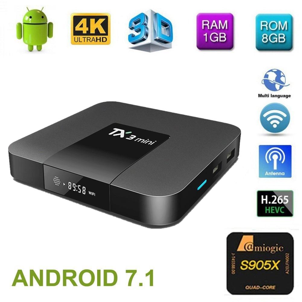 TX3 Mini Android 7.1 TV BOX 2GB 16GB Amlogic S905W Quad Core Smart TV Box 4K HDMI 2.4GHz WiFi Media Player PK X92 X96 mini pro