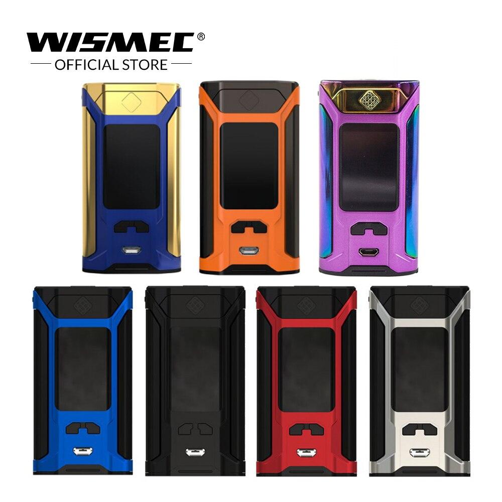[Almacén de ee.uu.] Wismec sinuosa RAVAGE 230 TC caja Mod 200 w Salida VW/tc-ni/ tc-ti/TC-SS/TCR modo cigarrillo electrónico vape mod kit