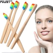 Бесплатная доставка, 1 шт., яркая бамбуковая зубная щетка, Экологичная деревянная зубная щетка, новинка, Бамбуковая зубная щетка, нейлоновая щетина