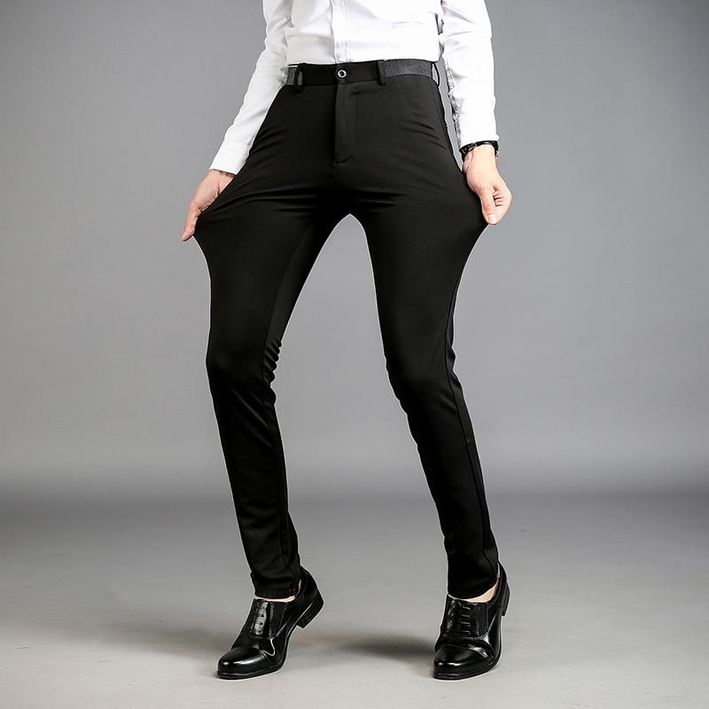 Aliexpress.com : Buy 2017 Men Dress Suit Pants Slim Fit Plus Size ...