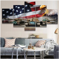 5 Pcs 5D Diy Diamond painting Animal Eagle full square round drill mosaic diamond embroidery Abstract American Flag Tank ZP 1837