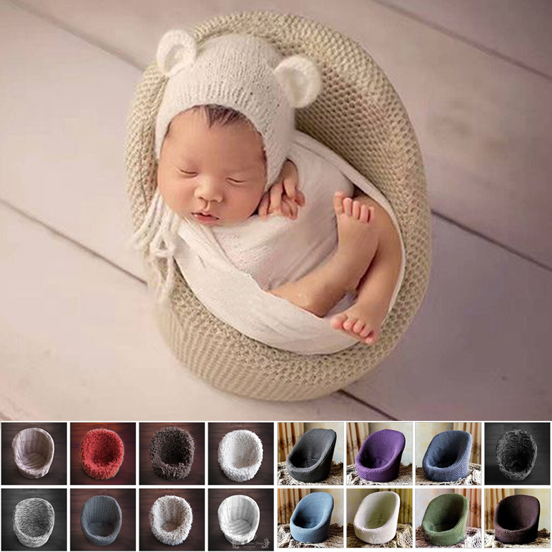 Baby Photo Props Newborn Photography Props Flokati Basket Accessories Sofa For Studio new style baby photography studio props newborn one hundred days photo basket natural pampasgrass moon boat crescent