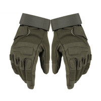 Tactical Combat Male Gloves Mittens Army Military Sports Women Mens Hand Full Finger Black Green Soldier Bicycle Gloves