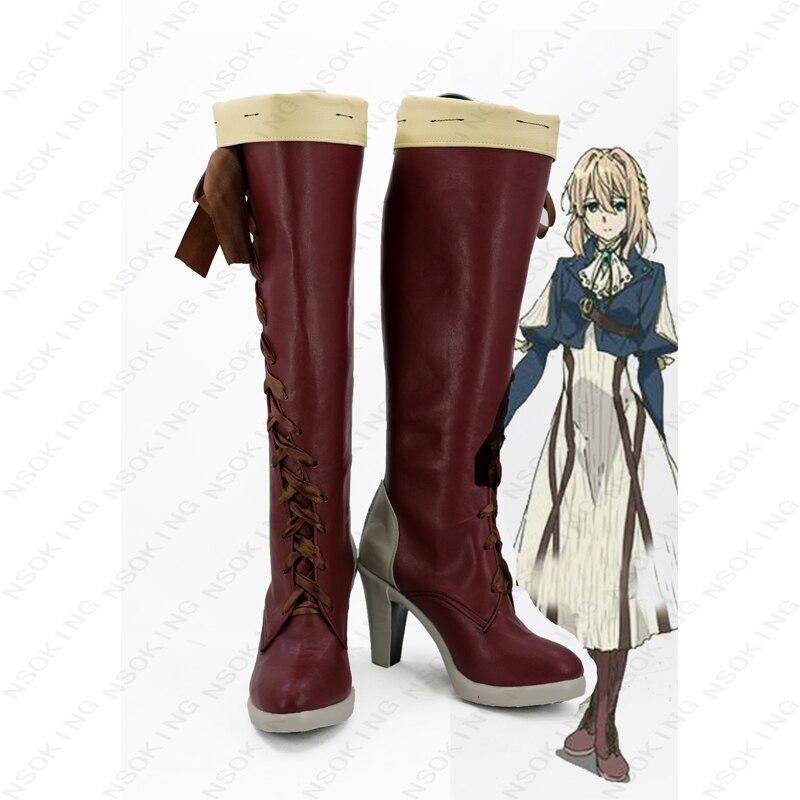 New Violet Boots Cosplay Anime Violet Evergarden Shoes Custom-made стоимость