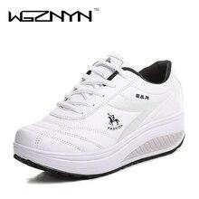 WGZNYN 2020 minceur chaussures femmes mode en cuir chaussures décontractées femmes dame Swing chaussures printemps automne usine Top qualité chaussures