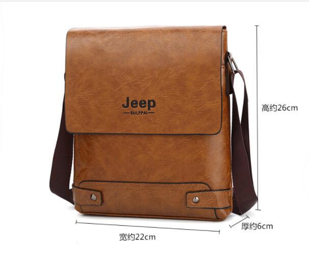 2019 New Jeep Men s Bag Business Bag Men s Shoulder Messenger Bag Jeep Leather Casual 2019 New Jeep Men's Bag Business Bag Men's Shoulder Messenger Bag Jeep Leather Casual Bag