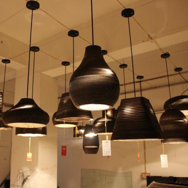 Nordic IKEA Cardboard Chandelier Lighting Designer Chrysalis Cafe Dining Room Den New Light Fixture In Chandeliers From Lights On Aliexpress