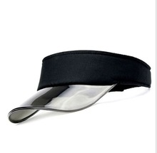 ФОТО new summer uv plastic visor sun hats men outdoor clear dealer tennis beach hat protection snapback caps