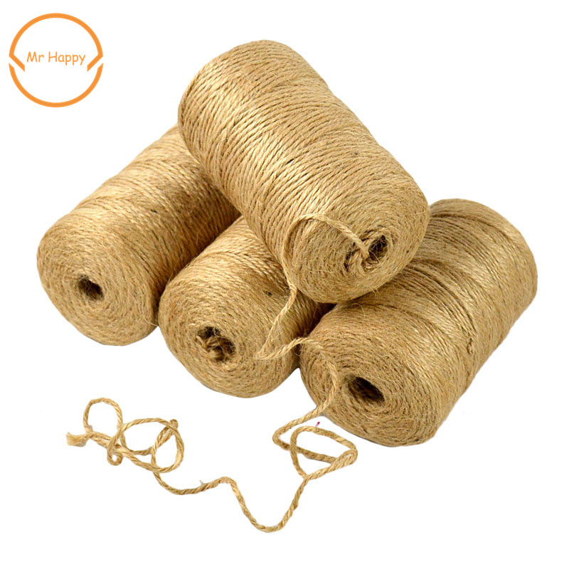 100 Meters Cord Natural Hemp Rope Dry Rope Used For DIY