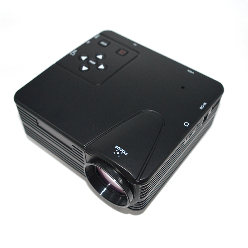 Desxz H80 Mini Projector HD 1080P LCD Digital Video Game Projectors Multimedia Player Inputs AV VGA