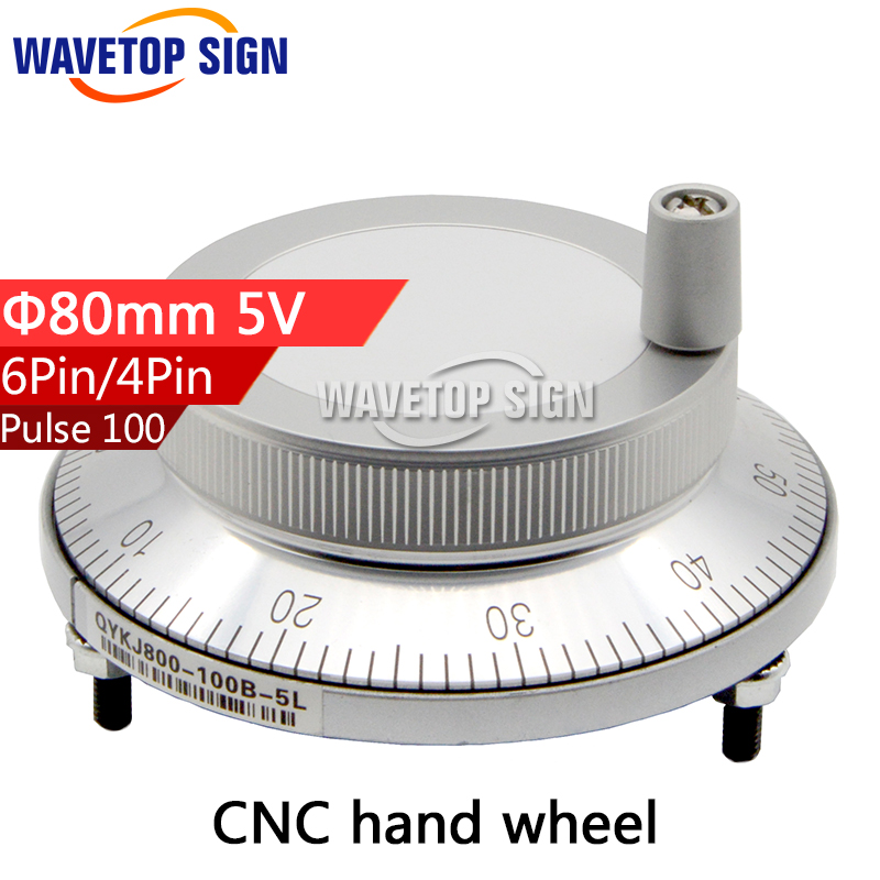 CNC electronic hand wheel handwheel Silver color diameter 80mm Pulse number 100 voltage 5v  number of pins 4 and 6 special offer japan sumtak brand electronic handwheel sentaike fanuc system with electronic handwheel big promotion