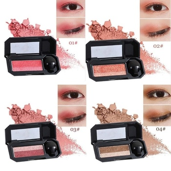 Perfect Dual Color Eyeshadow Makeup Palette Glitter Eye Shadow Shade Perfet Cosmetic Palette Glitter Eye Shadow Shade image