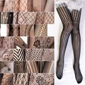 Sexy Lady Retro Jacquard Lace Openwork Tattoo Net Mesh Pantyhose Stockings for Women