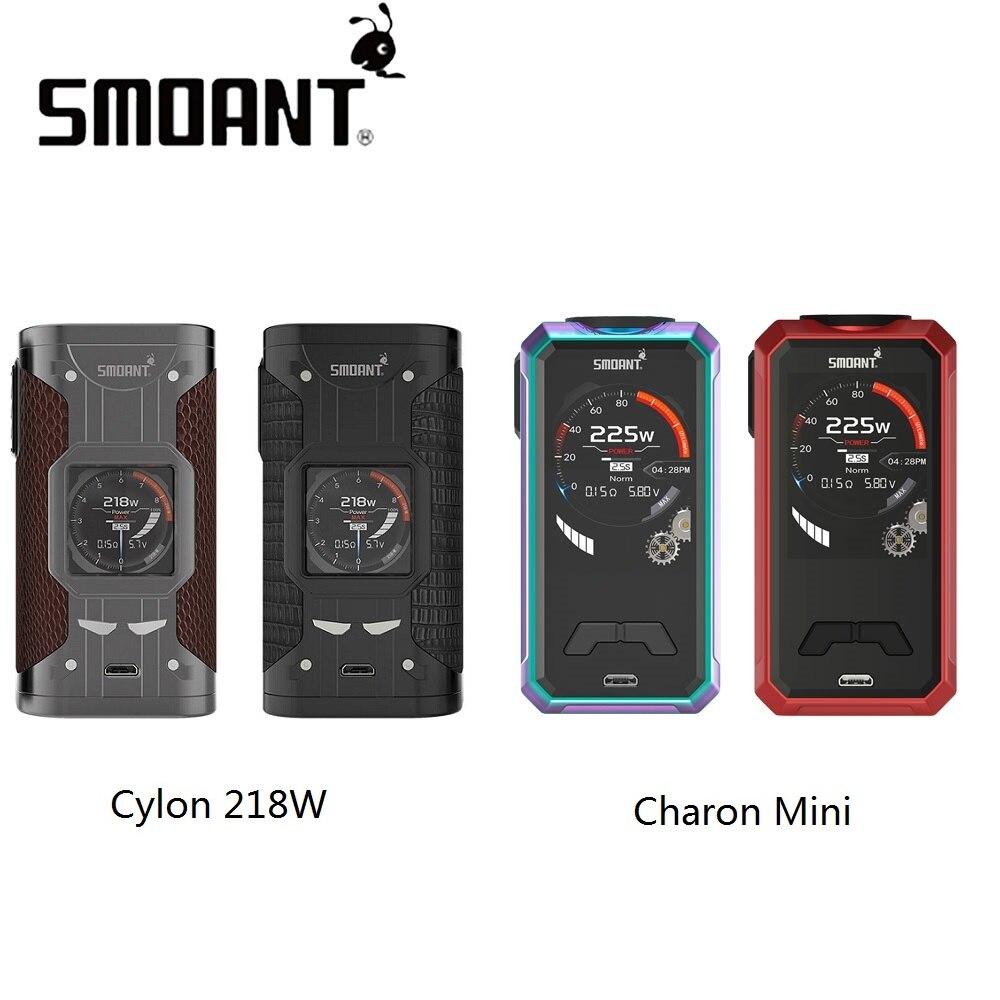 D'origine Smoant Charon Mini 225 w MOD Vs Smoant Cylon 218 w MOD N ° 18650 Batterie Boîte Mod Vaporisateur Énorme puissance Vs Glisser Mod/Vengeur X