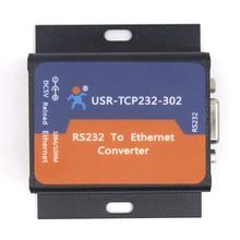 Q18041 USR-TCP232-302 Tamanho Minúsculo RS232 Serial para Ethernet TCP IP Conversor Módulo de Servidor Ethernet Suporte DHCP/DNS