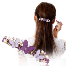 Новые модели двустворчатого заколка пряжка для волос клип жемчужные