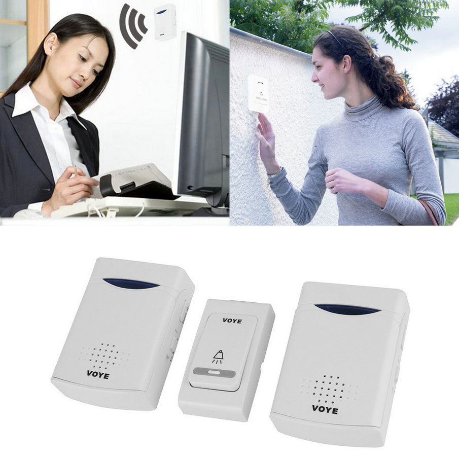 Home Wireless Digital 2 Receivers Doorbell+1 Remote Control 38 Melody Music new arrival