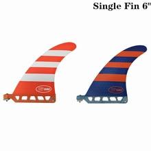 Surf Longboard Fins Surfboard Single Fin 6 Blue/Red color Surfing Length