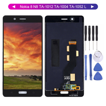 цена на Lcd For Nokia 8 N8 TA-1012 TA-1004 TA-1052 LCD Display Digitizer Touch Screen Sensor Assembly 2560x1440 For Nokia 8 LCD