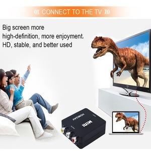 Image 3 - TISHRIC Mini HDMI To RCA/AV CVBS Male Audio Video Converter Adapter Box HDMI2AV NTSC PAL Composite Cable Scaler 1080p ForTV