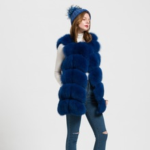 2016 Thick Soft 12 Colours Women Real Fur Waistcoat Or Genuine Fox Fur Gelit Lady Winter Warm Vest S1431WS