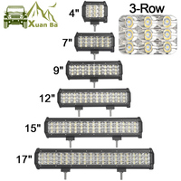 XuanBa 4 Inch 27W 3 Row Led Bar Offroad Light For 4x4 Off Road 4WD Truck