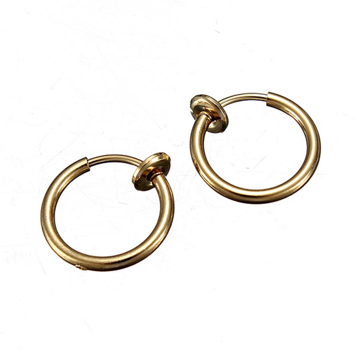 8 PCS Set Fake Piercing Navel Ear Nose gold