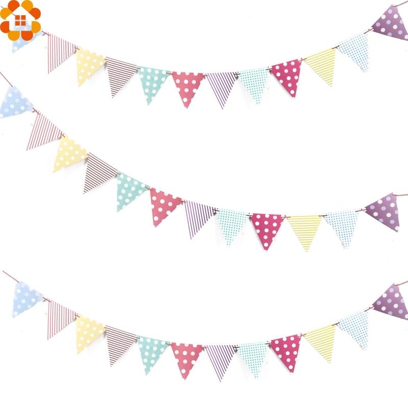 aliexpress com   buy 1set colorful paper flag banner u0026flags