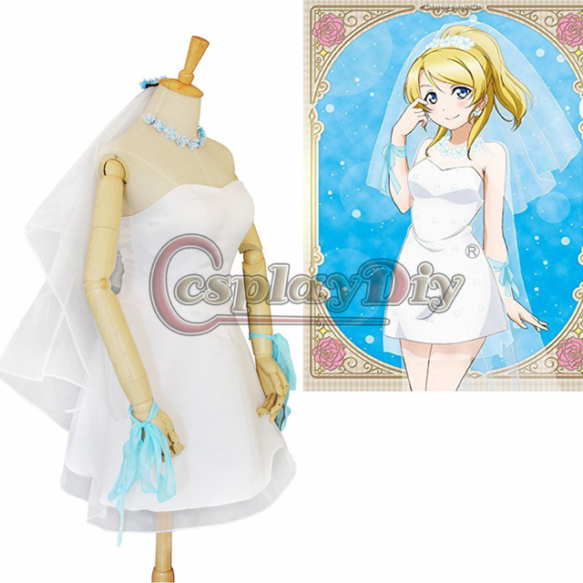 Cosplaydiy Anime Love live! Cosplay Costume Ayase Eli Women Fancy ...