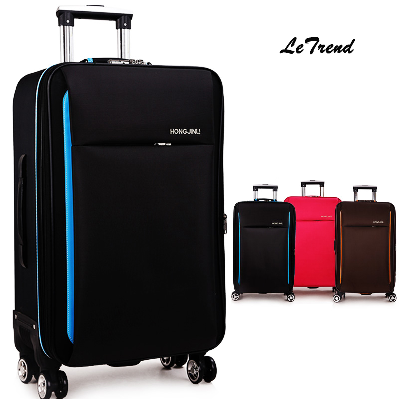 Letrend New Fashion font b Oxford b font Rolling Luggage Spinner Men Student Trolley Bag Suitcases