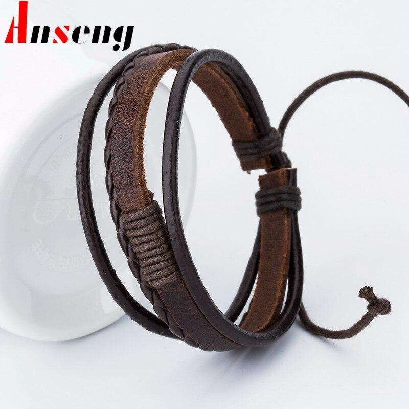 New Fashion Anchor Charm Leather Men S Bracelets Por Boys Bangle Courage Bracelet Diy Handmade Cross