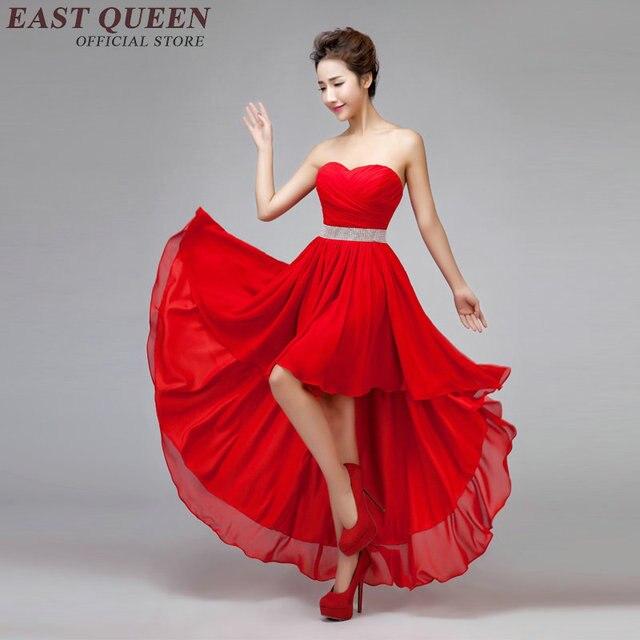 alta qualità più popolare negozio ufficiale US $39.6 45% di SCONTO|Moderna cinese delle donne del vestito elegante nudo  della spalla vestito rosso dalla damigella d'onore senza spalline backless  ...