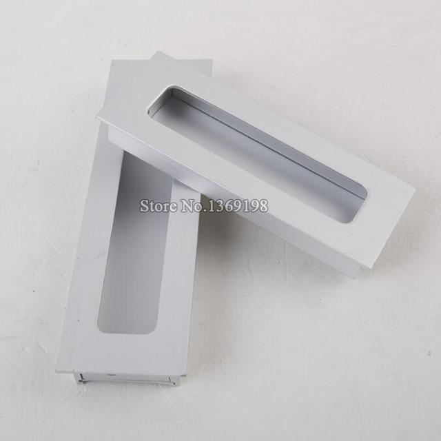 Versteckte Schiebetür 10pcs cabinet handles recessed pulls cupboard wardrobe