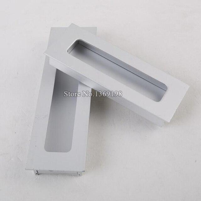 Hot 10PCS Cabinet Handles Hidden Recessed Pulls Cupboard Wardrobe Drawer  Concealed Handle Sliding Door Handles And