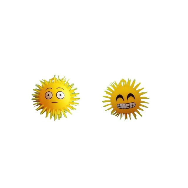 6 шт. СВЕТОДИОДНЫЕ светящиеся упругий шарик 6 различных выражений ребенок игрушки Новый Год подарок 5111