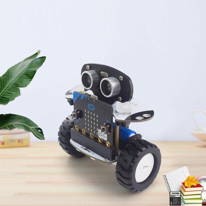 2018 Microbit Robot Kit Programmable Robot RC Voiture APP Contrôle Web Programme Graphique avec Microbit