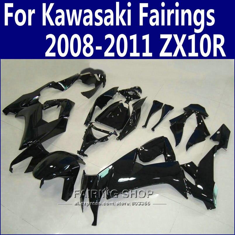 ᗗABS carenados para Kawasaki Ninja ZX10R 2008 2009 2010 2011 08 09 ...