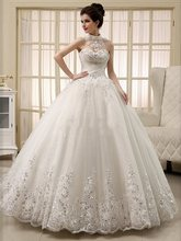 Ensotek New Sequined Appliques Pearls Ball Gown Wedding Dress 2019 Floor Length Muslim Bridal Gowns robe de mariage