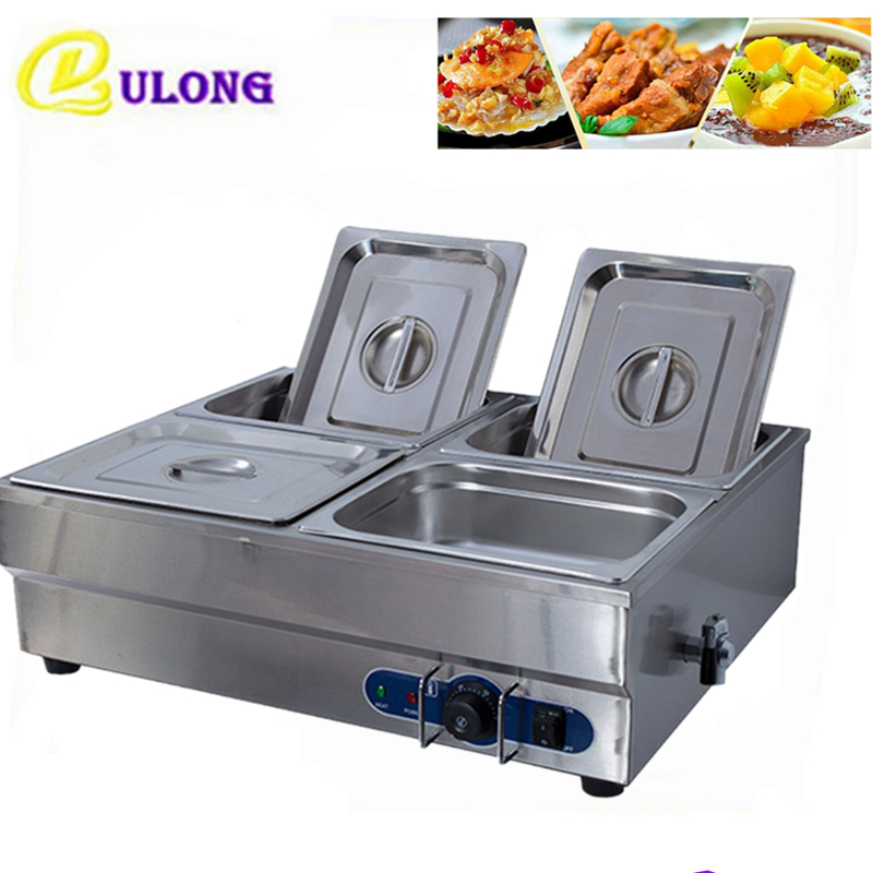 Commercial Food warmer Professional Soup Heating Kitchen Equipment Bain Marie Stainless Steel Electric Countertop