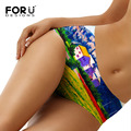 FORUDESIGNS New Designs Fashion Silky Pants Sexy Underwear For women 3D Scenery Pattern Printing Comfortable and soft Underwear