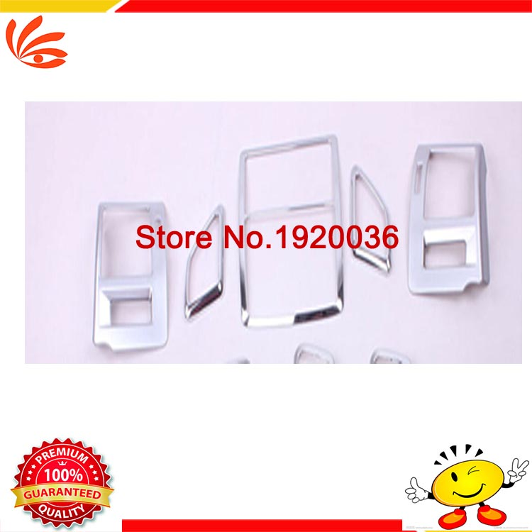 Chrome Air Conditioning Vent Outlet Cover Central control Left And Right sticker Center control panel cover for Toyota PRADO for dongfeng peugeot 408 rail for box after the air conditioning outlet 408 central air rear outlet non destructive installation