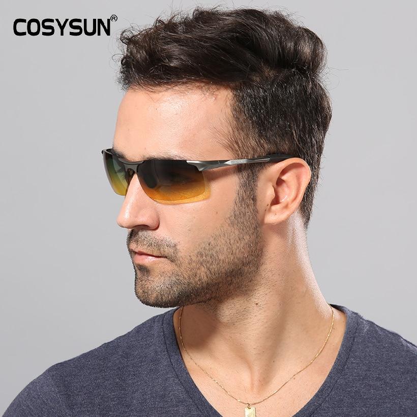2019 Day & Night Vision HD Driving Polarized Sunglasses men's Driving Glasses Anti-glare aluminum magnesium alloy glasses 817