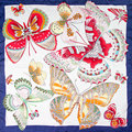 100% Silk Scarf Women Scarf Butterfly Neckerchief Scarf Silk Bandana 2017 Animal Foulard Small Square Silk Scarf Nice Lady Gift