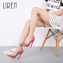 Liren 2019 Summer Women Fashion PVC Transparent Sandals Pointed Toe High Thin Heels Shallow Size 35-40 Lady Shoes