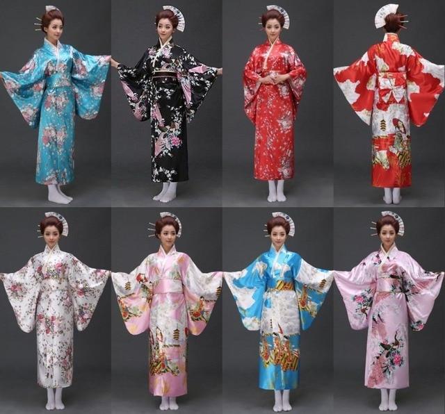 17 styles vintage japanese geisha kimono yukata haori costume retro